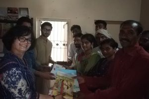 Distribution of books for youth library in Una