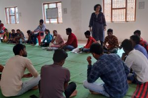 Workshop on leadership building with dalit youth in Sakti, Chattisgarh