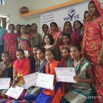 Workshop with tribal girls in Chhota Udepur, Gujarat