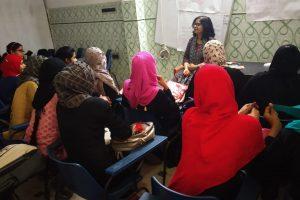 Workshop on Leadership building of Girls in Fatehpur (U.P.)