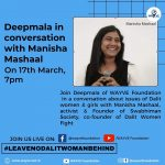 YouTube & Facebook live Deepmala in conversation with Manisha Mashaal on caste and gender
