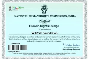 WAYVE Foundation got N.H.R.C. Certificate
