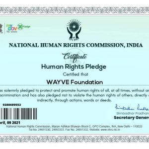 WAYVE NHRC Certificate
